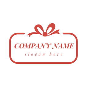 Orange Bowknot and Birthday logo design