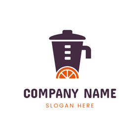 Orange Slice and Blender logo design