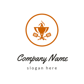 Orange Slice and Hot Pot logo design