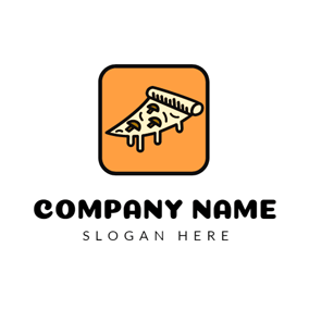 Orange Square and Yellow Pizza logo design