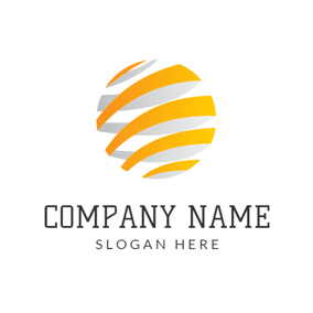 Orange Stripe and Abstract Earth logo design