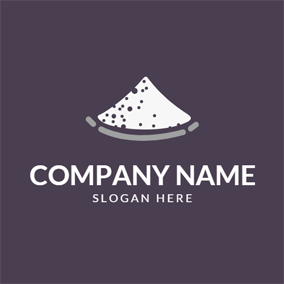 Pile White Salt Icon logo design