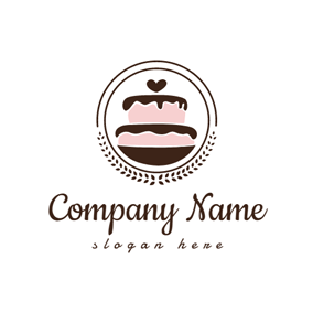 Pink and Chocolate Cake logo design