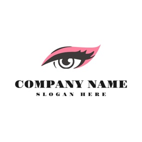 Pink Eye Shadow and Beautiful Eye logo design