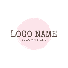 Pink Figure and Simple Letter logo design
