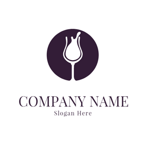 Purple Background and White Glass logo design