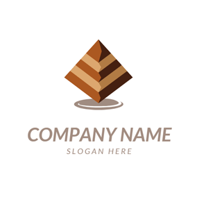 Pyramid Shape and Brownie logo design
