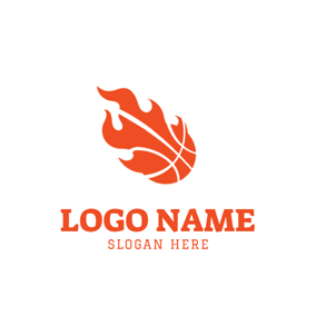 Red and White Basketball logo design