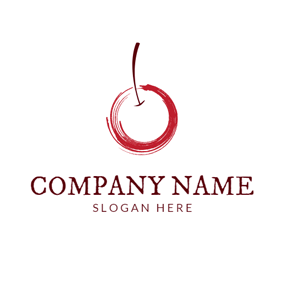 Red and White Cherry logo design