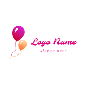 Red and Yellow Balloon logo design