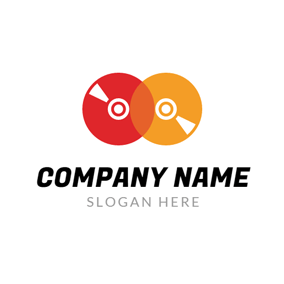 Red and Yellow CD logo design