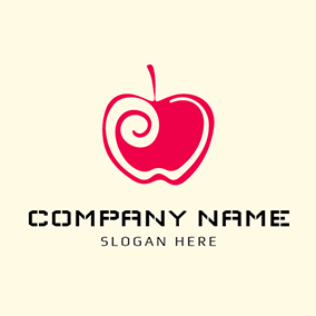 Red Banana and Apple logo design
