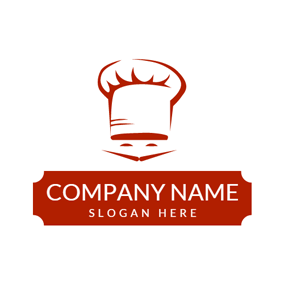 Red Beard and White Chef Hat logo design