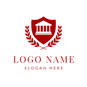 Red Branch and Court Badge logo design