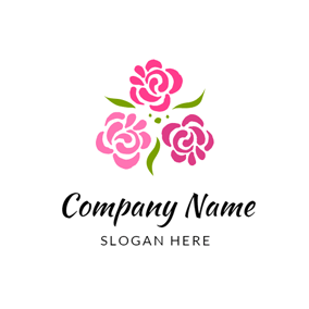 Red Flower and Garden logo design