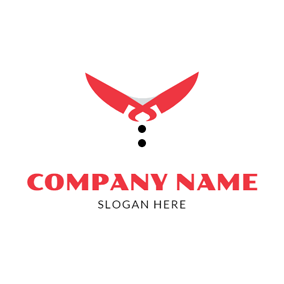 Red Knife and Chef Uniform logo design