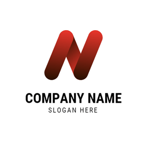 Red Letter N logo design