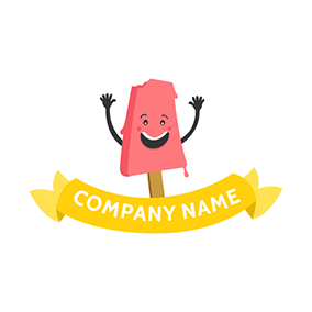 Red Strawberry Ice Cream logo design