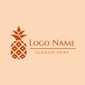 Rhombus and Simple Pineapple logo design