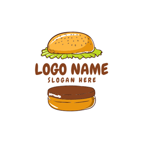 Separated Brown Burger logo design