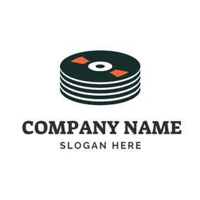 Several Black CD logo design