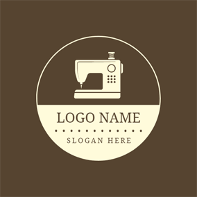 Sewing Machine and Clothing Brand logo design