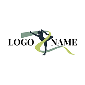 Silk Ribbon and Sport Woman logo design