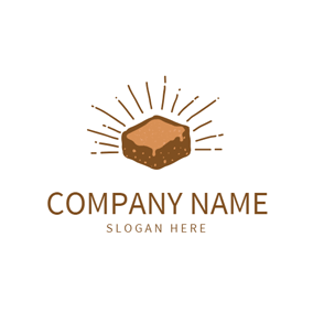 Simple Brown Brownie logo design