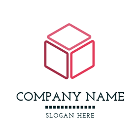 Simple Red Box logo design