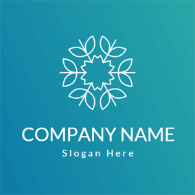 Simple White Flower logo design
