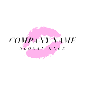 Single Mauve Lip Print logo design
