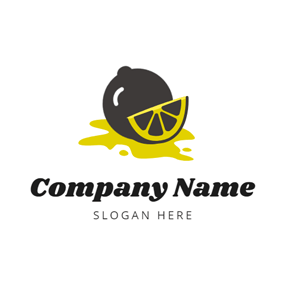 Slice and Black Lemon logo design