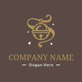 Small Brown Bell logo design