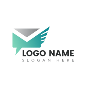 Special Green and Gray Envelope logo design