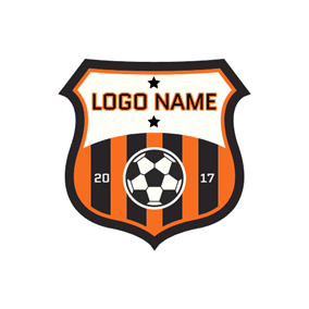 Star Soccer Ball Badge logo design