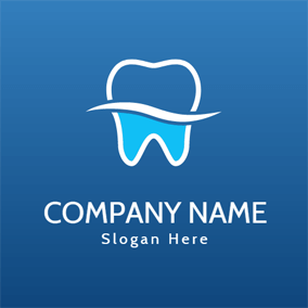 Strong White Teeth logo design