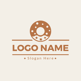 Sweet Chocolate Doughnut logo design