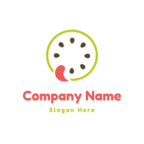 Tongue and Kiwi Slice logo design