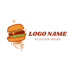 Tornado and Delicious Sandwich logo design