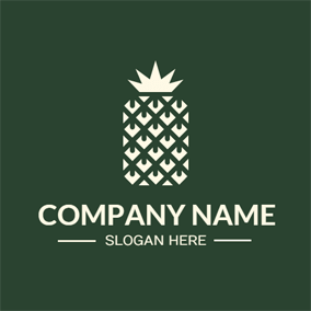 Unique and Abstract Pineapple Symbol logo design
