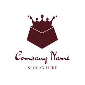 White and Brown Chocolate logo design
