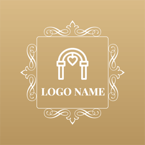 White and Holy Wedding logo design