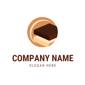 White Chocolate and Brownie logo design