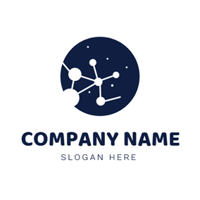 White Constellation and Blue Space logo design