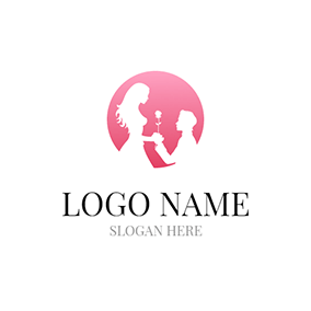 White Dating Man and Woman logo design