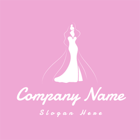 White Dress and Clothing Brand logo design