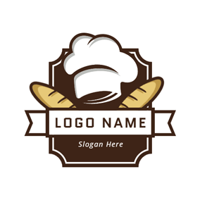 White Hat and Yellow Bread logo design