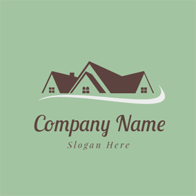 White Road and Brown House logo design