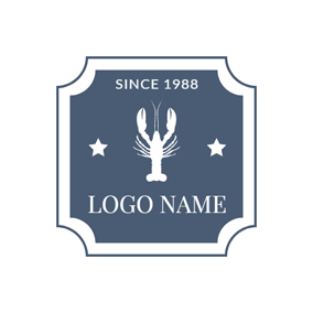 White Star and Lobster logo design