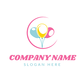 Yellow and Blue Balloon logo design